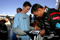 Autograph session for Gabriele Lancieri