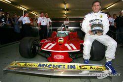 Jody Scheckter avec sa Ferrari 312 T4, avec laquelle il a gagné le titre de Champion du Monde 1979