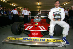 Jody Scheckter with his 1979 World Championship Ferrari 312 T4