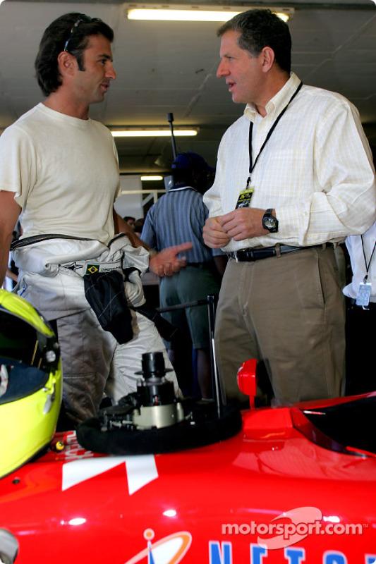 Christian Fittpaldi and Jody Scheckter