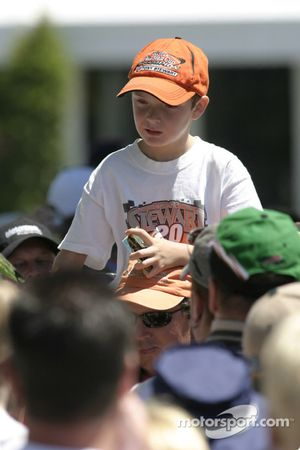 Un jeune fan