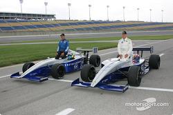 Front row: pole winner Travis Gregg with Thiago Medeiros