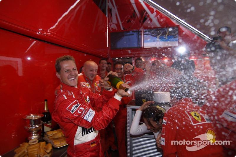 Celebraciones Champagne para Michael Schumacher