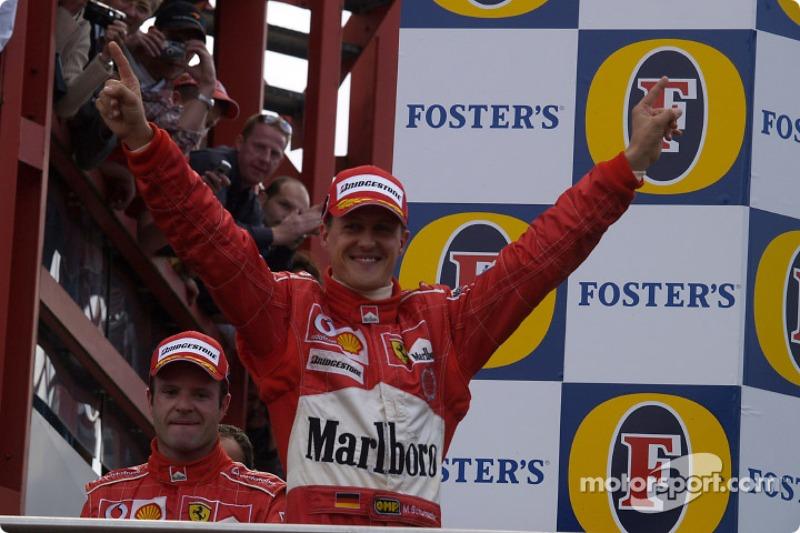 Podyum: Michael Schumacher ve Rubens Barrichello