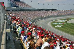 Fans at Kentucky Speedway watch race action