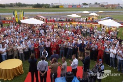 Ferrari employees and team members celebrate 6th consecutive Constructors World Championship