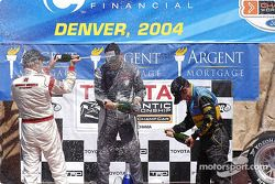 Podium: race winner Ronnie Bremer with Ryan Dalziel and Bryan Sellers