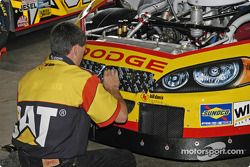 #22 Scott Wimmer car having racing tape applied to the openings