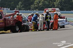 Sterling Marlin was too damaged to continue
