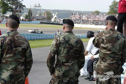 The military participated in the opening ceremony