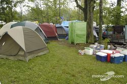 Camping is popular