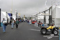 Grand-Am trailers in the paddock