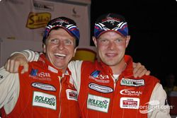 Didier Theys and Jan Magnussen were happy