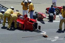 1999 Ferrari F1 car of Michael Schumacher driven by Frederico Kroymans, after…