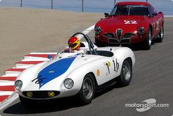 N°16 1955 Ferrari 750 Monza, Christian Traber, n°22 1953 Alfa-Romeo 6C-3000CM