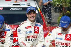 Podio: Sébastien Loeb y Carlos Sainz