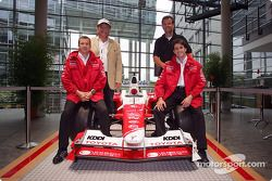 Toyota F1 drivers Olivier Panis and Ricardo Zonta with Markus Schrick, Toyota Germany President, and