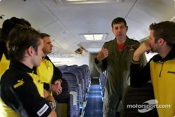 Members of the Jordan Grand Prix Team visit R.A.F Brize Norton to see how they refuel their aircraft