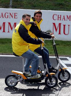 Timo Glock y Giorgio Pantano