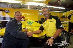 Jean-Denis Lejeune, founder, Child Focus Charity, ve Eddie Jordan, launch, Belgian GP message from B