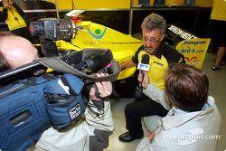 Eddie Jordan, launch, Belgian GP message from Bahrain