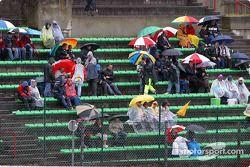 Болельщики под дождем
