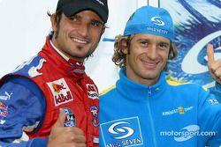 Jarno Trulli ve F3000 pilotu Vitantonio Liuzzi
