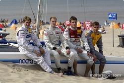 Christijan Albers, Charles Zwolsman (F3 Euroserie), Martin Tomczyk and Jeroen Bleekemolen
