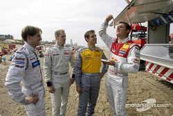 Christijan Albers, Charles Zwolsman (F3 Euroserie), Jeroen Bleekemolen and Martin Tomczyk