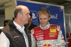 Head of Audi Motorsport Dr Wolfgang Ullrich and Mattias Ekström
