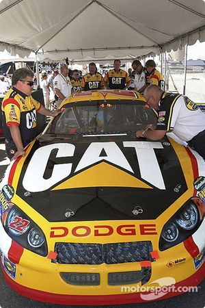 The Cat Dodge goes through tech inspection