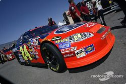 Jeff Gordon's car going to tech inspection