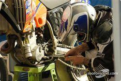 Pre-race preparations