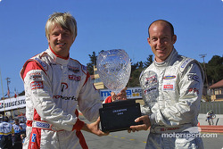 The two contenders for the 2004 Atlantic Series championship: Ryan Dalziel and Jon Fogarty