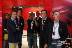 Luca di Montezemolo, John Elkann, Eros Ramazzotti, Sergio Marchionne and Piero Ferrari
