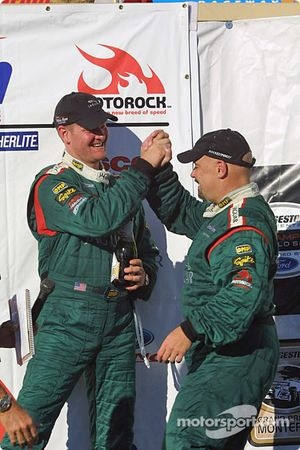 Podium: Tommy Kendall and Paul Gentilozzi celebrate