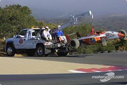 Andrew Ranger's damaged car