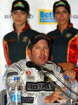 Un Paul Morris détendu après sa qualification en 3e place pour le Betta Electrical 500