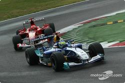 Giancarlo Fisichella et Michael Schumacher