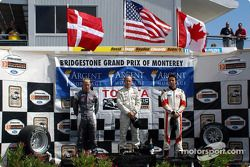 Podium: race winner Jon Fogarty with Ronnie Bremer and Andrew Ranger