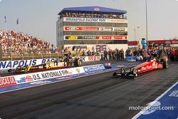 La finale Top Fuel : Tony Schumacher et Doug Kalitta