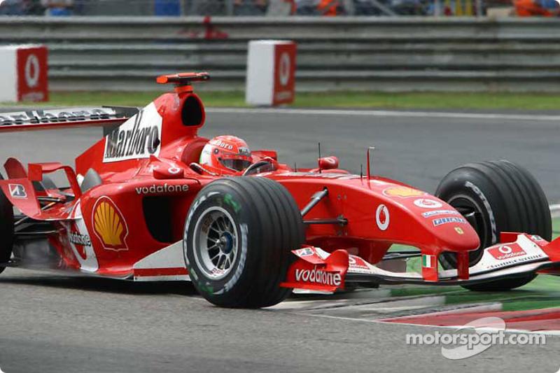 Schumacher chegou em segundo em Monza