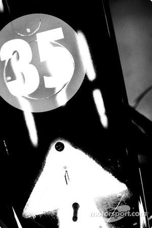 La carrosseries de la BAR-Honda 006 d'Anthony Davidson