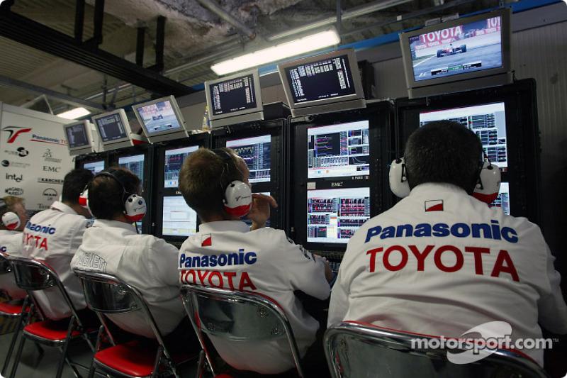 La salle de télémétrie Toyota