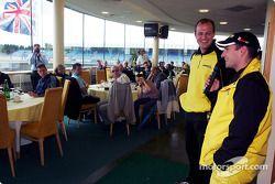 Timo Glock divertit les invités à l'hospitalité Jordan