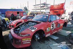 Dick Barbour Racing paddock area