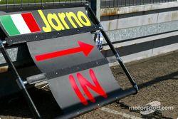 Le panneau de Jarno Trulli