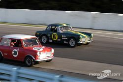 MG Midget et Austin Cooper S