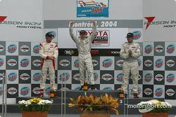 Podium: race winner Jon Fogarty with Ryan Dalziel and Alex Figge