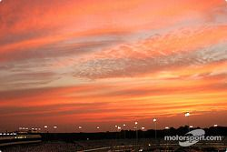 A colorful sunset at Richmond before the Busch race